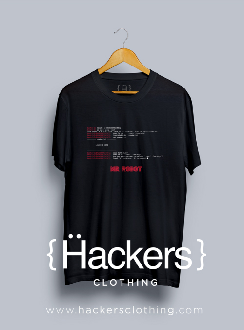 mr robot hacking tshirt
